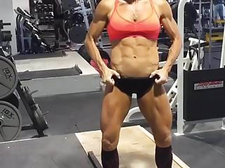 Female muscle insane abs tanned asian...