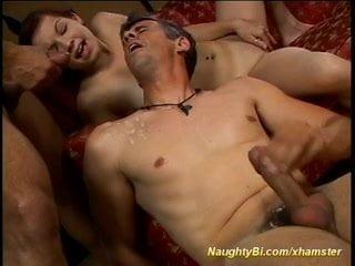 her first bi sex threesome orgy