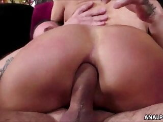 Big cock in her tight asshole  - Compilation