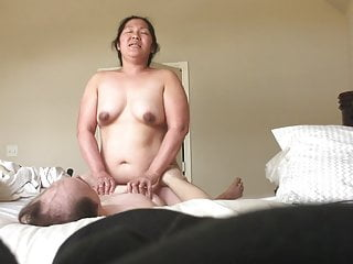 Thicc BBW Asian Lover Using Dick Bouncing Titties Part2