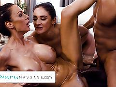 NuruMassage – Hot Threesome Therapy Massage With Sheena Ryder