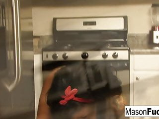 Mason masturbates in the kitchen and gets really angry