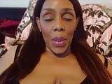 BBW black mommy fingering pink vagina