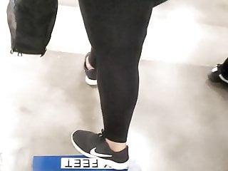 Thickk chubby black in spandex vpl
