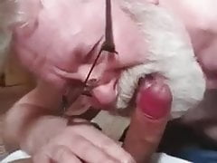 bearded grandpa sucking cock and eating cumfree full porn
