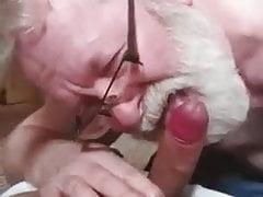bearded grandpa sucking cock and eating cumfree full porn