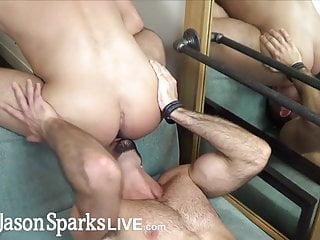 First time jock gets monster cock inside...
