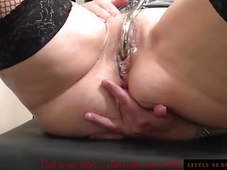 Assfingering hook double penetration dildo at the swing...