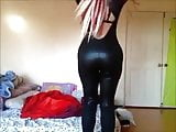 Hot Blonde in a catsuit - Great Ass