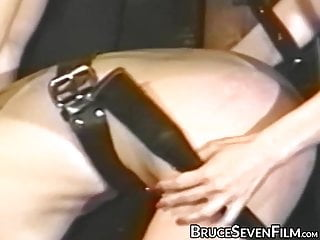 tormented in Lesbian and babes vintage spanked session