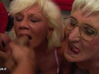 Four mature sluts begging for a warm hot facial