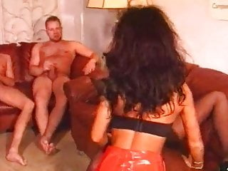 Group Sex Gangbang Double Penetration video: Janas Spermadusche - Gangbang, Creampie, Anal, DP, Dildos