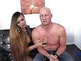 dominant Venus Lux fucks her submissive guy bareback