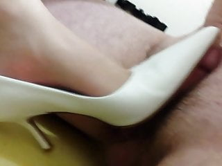 Buffalo White Pointy Heels - Size 40