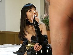 Petite Japanese Ai Femdom CFNM Pantyhose Handjob