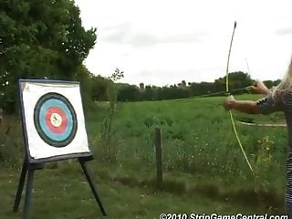 Bex, Debz & Charlotte in Strip Archery 1