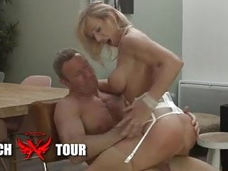 Busty and hairy French mature gets analyzed by a big cock