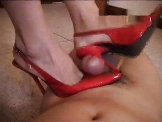 Asian nurse red pumps heeljob cock milked...