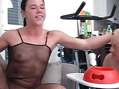 Dominatrix makes her slave eat like a dog music by ivvill