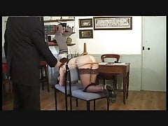 Two cheeky students caned by teacher