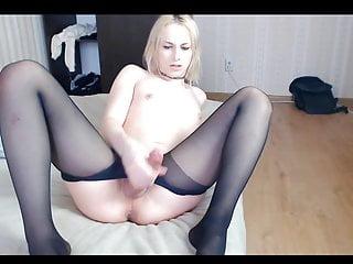 Blonde transsexual alisa...