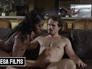 Beautiful Amari Anne Gets Sensual With Robby Echo On The Couch