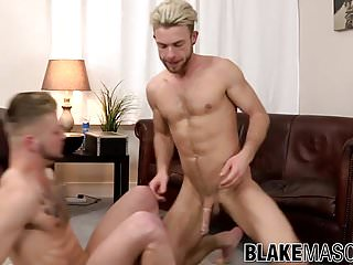 Gabriel phoenix and koby lewis party in bed...