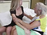 Young daughter fucks old lesbian granny