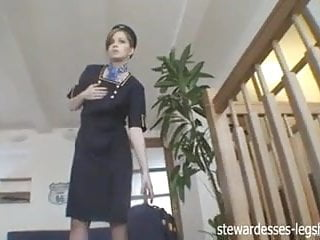 Czech stewardess strips teases and pleases...
