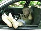 Car Window Feet 1