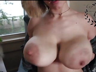 playing with her tits