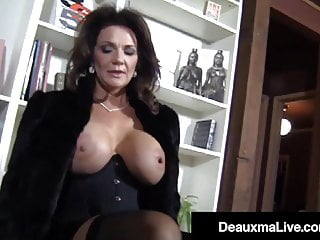Hosed Busty Cougar Deauxma Foot Fucks A Young Hard Stud
