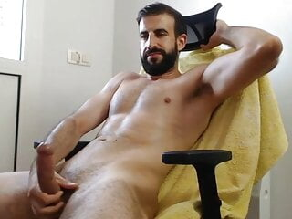 Guy jerkoff his hardon cock