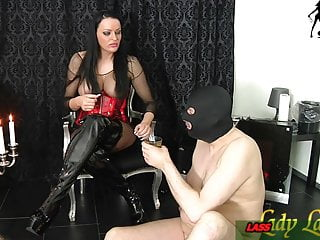 German Amateur video: spitting and piss from german bdsm fetish domina for slave