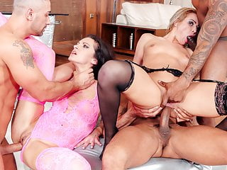 Slam us european babes ass drilled in orgy...