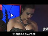 Wicked - Busty brunette mistress Gracie Glam rides her lover