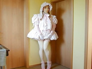 dress pink frilly in Sissy  style little girl