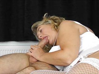 White corset bed fucking