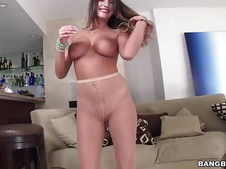 August ames takes huge cock doggystyle...