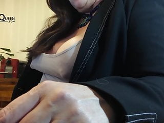 Chubby areolas in the office – Tanja is the nipple queen