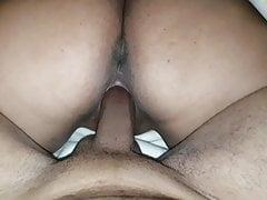 Big round ass girl twerking on big black dick during fucking
