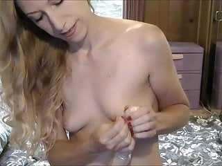 Model Fucks Her Ass With Huge Dildos