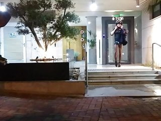 Beautiful crossdresser posing in public...