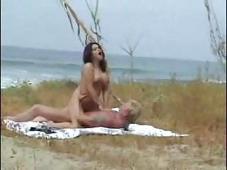 Milf hot sex on the beach...