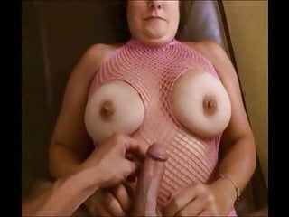 on granny her tits Breasted cumshot get