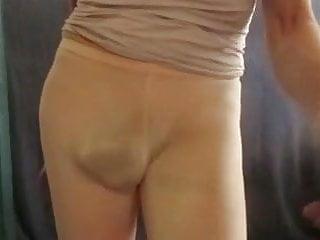 Man slut in tight yoga leggings...
