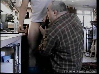 Licking dick...
