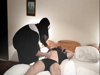 nun makes a handjobPorn Videos