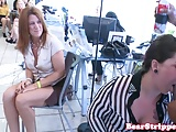 Wild babe pussy fucked in office by stripper