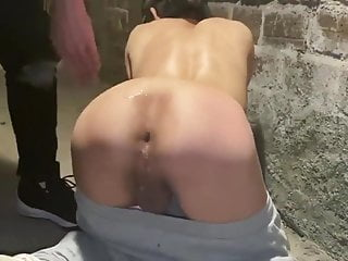 submissive boy is fucked in the basement